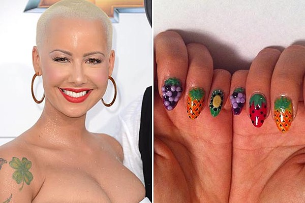 Amber rose stiletto nails