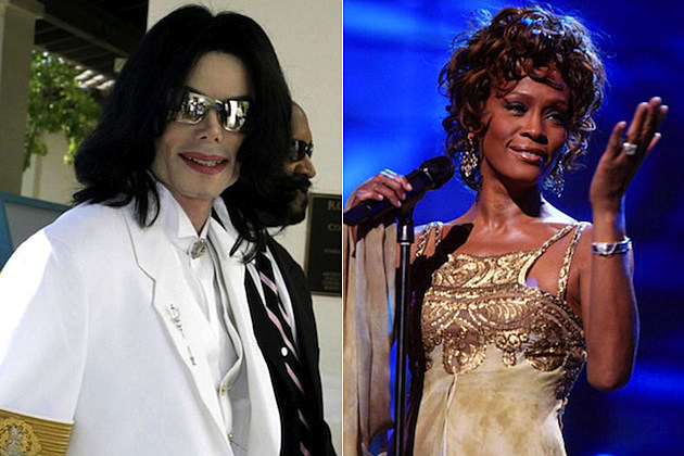 Michael Jackson and Whitney Houston    s respective music careers will    Whitney Houston And Michael Jackson Kissing