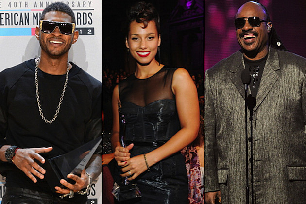 Usher Alicia Keys Stevie Wonder