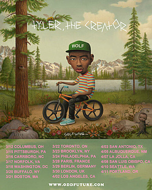Tyler the Creator Tour Poster
