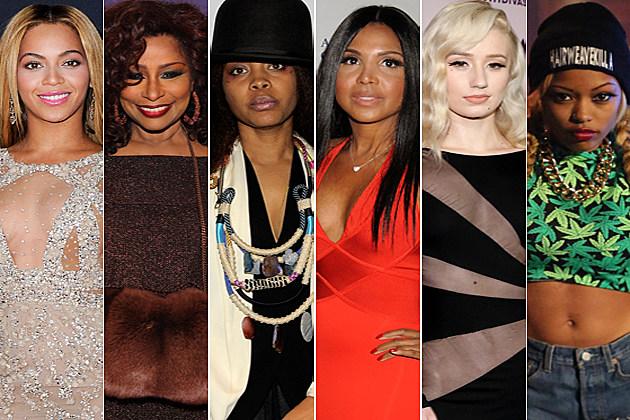Beyonce Chaka Kahn Erykah Badu Toni Braxton Iggy Azalea Nyemiah Supreme