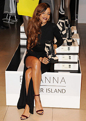 Her collaboration with u k store river island at london fashion