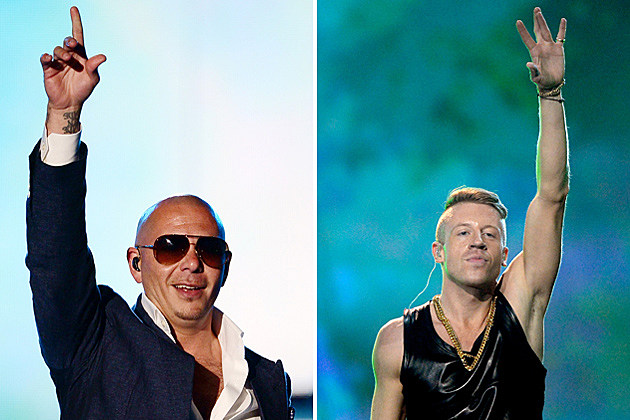 Pitbull Macklemore Getty Images