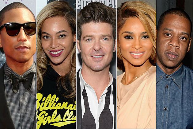 Pharrell Williams Beyonce Robin Thicke Ciara Jay Z